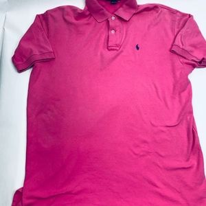 Polo by Ralph Lauren Mens Polo Large Pink
